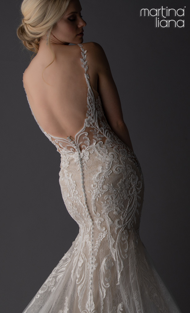 """Martina Liana Spring 2020 Wedding Dresses - 1111 """"width ="""" 615 """"height ="""" 1011 """"data-pin-description ="""" Make a Statement with Martina Liana's Latest Collection: """"A Statement of Love"""" 