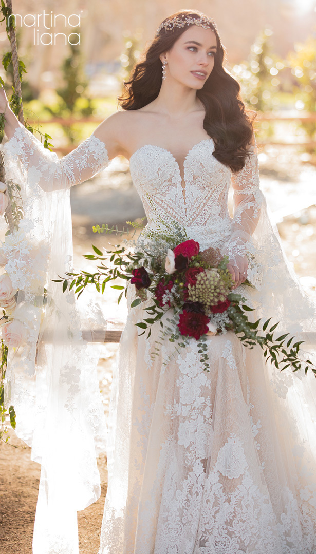 """Martina Liana's Spring 2020 Wedding Dresses - 1147A2 """"width ="""" 615 """"height ="""" 1079 """"data-pin-description ="""" Make a Statement with Martina Liana's Latest Collection: """"A Statement of Love"""" 