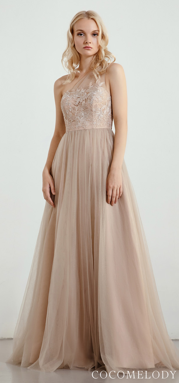 One Shoulder Bridesmaid Dress Trends by Cocomelody 2020 - RB0298