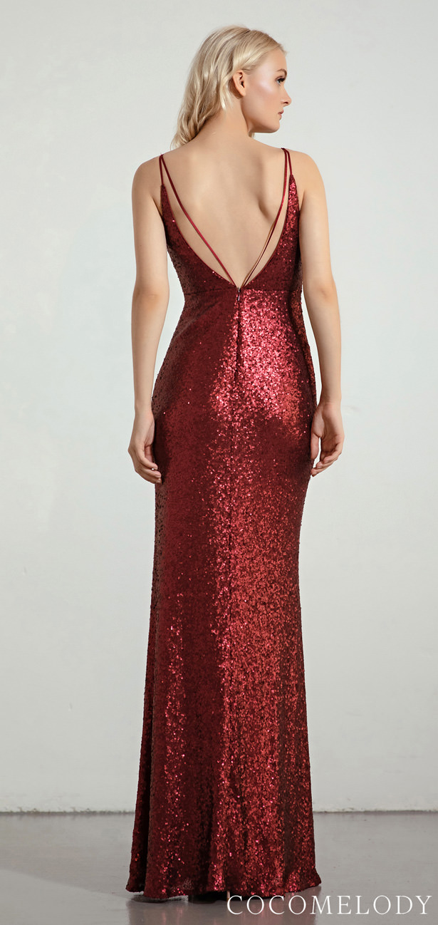"""Sequins Bridesmaid Dress Trends by Cocomelody 2020 - MOLLY """"width ="""" 615 """"height ="""" 1298 """"data-pin-description ="""" Sequins Bridesmaid Dress Trends by Cocomelody 2020 - MOLLY 