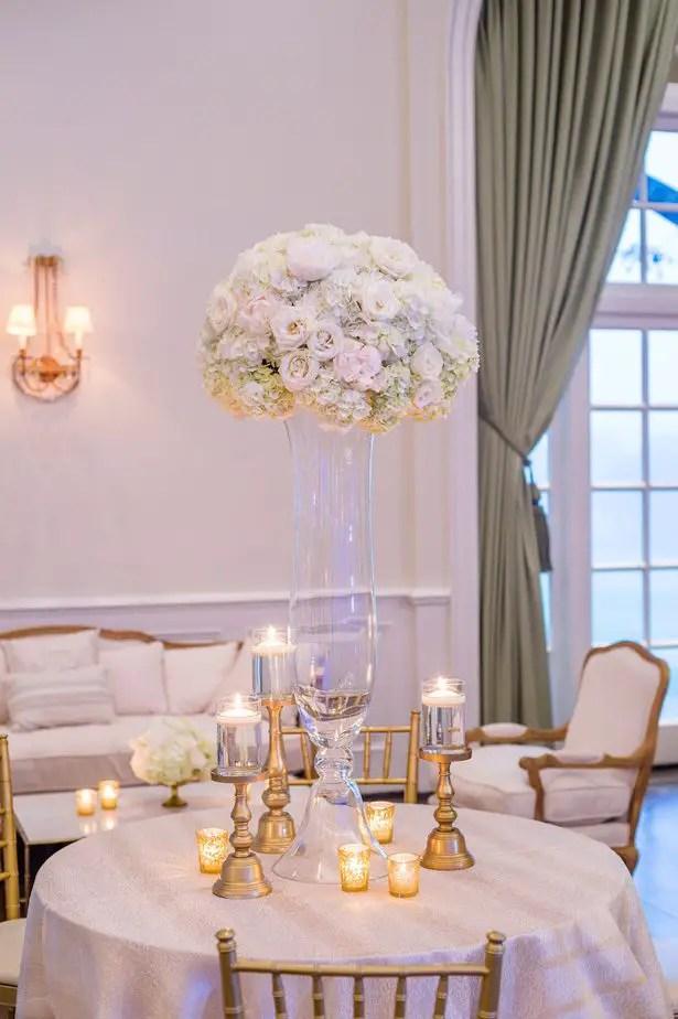 Tall wedding centerpiece- Heather Durham Photography