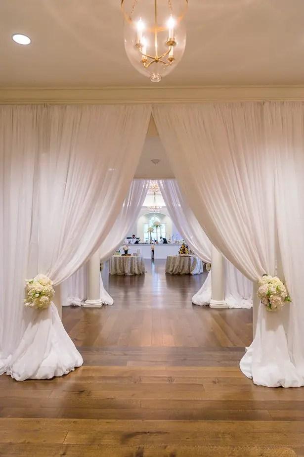 Wedding draping decor - Heather Durham Photography