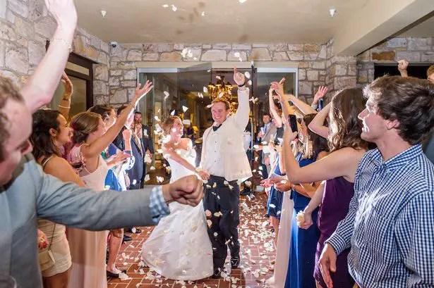 Wedding exit- Heather Durham Photography