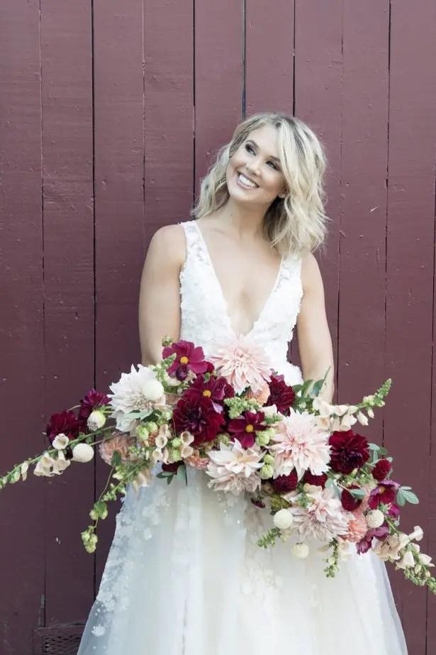 Wild burgundy wedding bouquet - Photography: Szu Designs, Inc