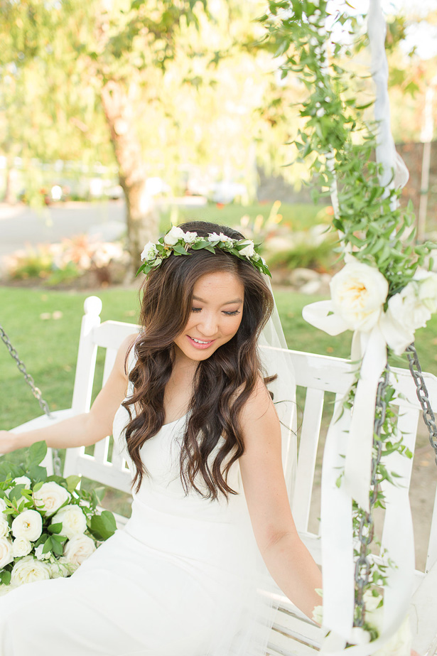 boho greenery bridal hair piece - Theresa Bridget Photography