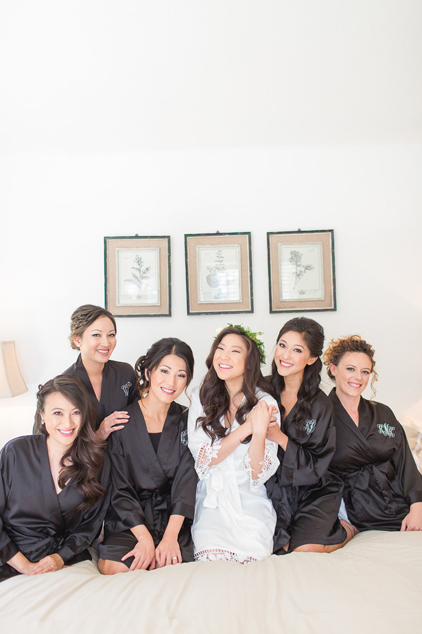 bridal party robes - Theresa Bridget Photography