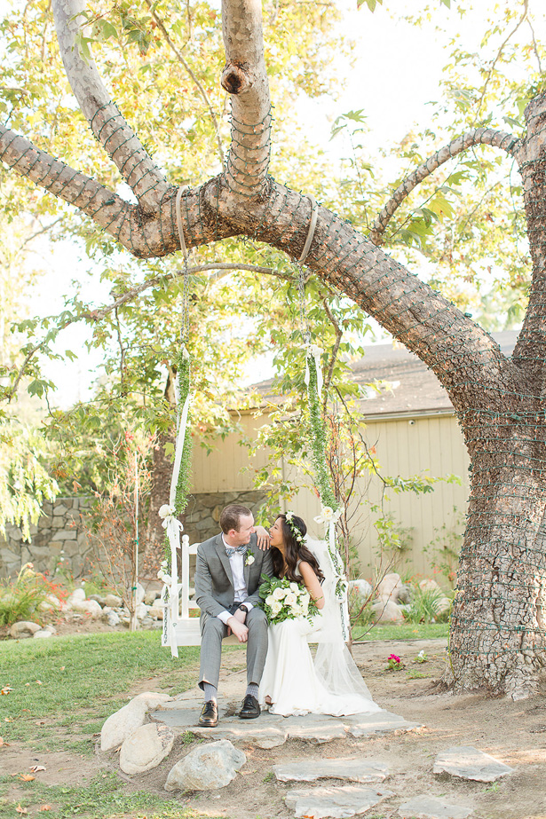 boho wedding swing - Theresa Bridget Photography
