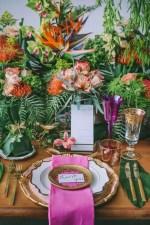 Stylish Tropical Wedding Tablescape - George Pahountis Photographer