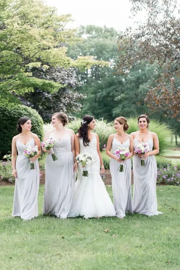 Long gray bridesmaid dresses - Lynne Reznick Photography