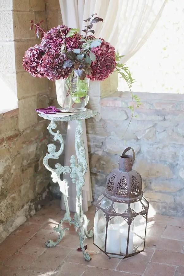 Wedding ceremony flowers and lanterns - Purewhite Photography