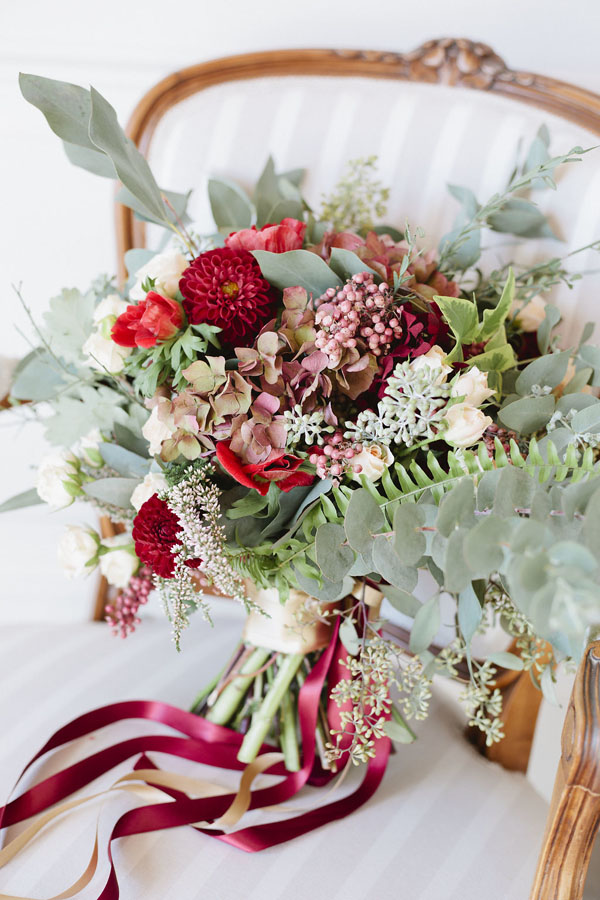 Burgundy Wedding Bouquet - Purewhite Photography