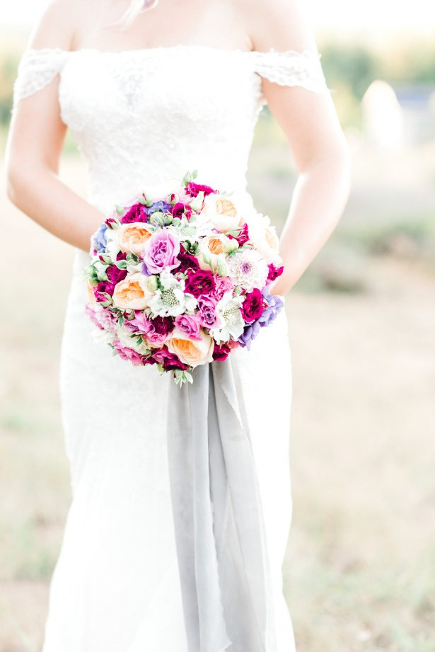 Classic wedding bouquet with colorful flowers - Lauryn Kay Photography