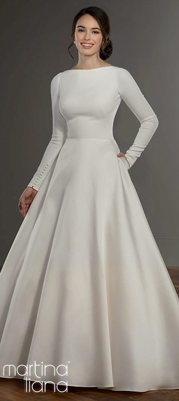 Long sleeves wedding dress - Martina Liana Style 1157A3
