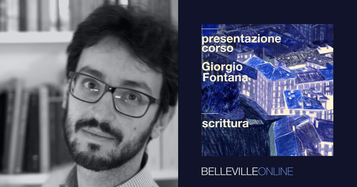 Comincia il corso di Scrittura della Scuola Belleville, online con Giorgio Fontana