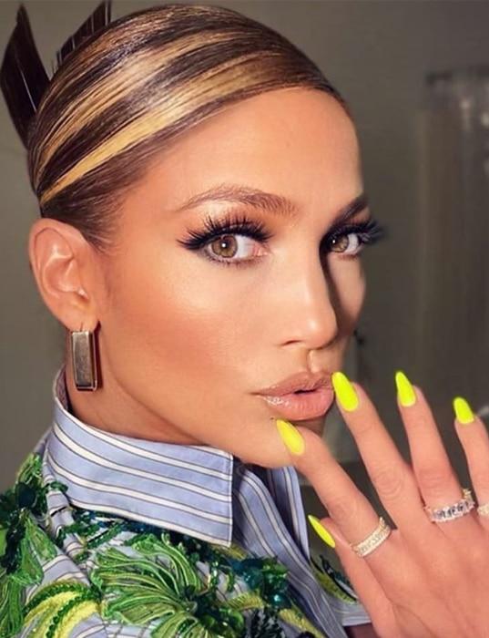Jennifer Lopez, mechas chunky