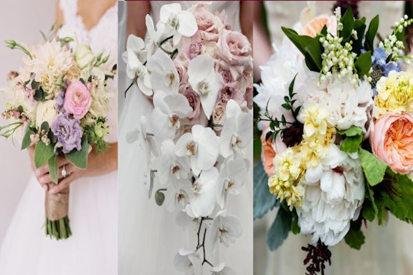 distintos ramos de novia