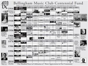 Centennial fundraiser calendar