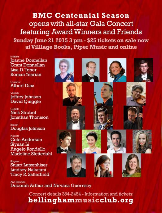 BMC gala poster with red background