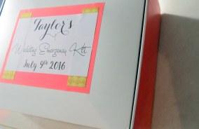 DIY - Wedding Emergency Kit -Decorated Box (3)