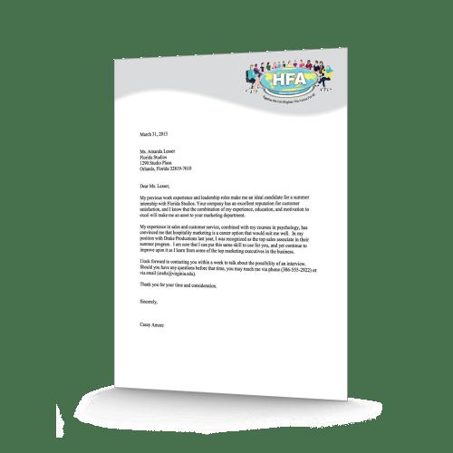 HFA Letterhead Design & Printing