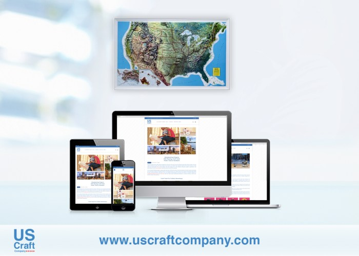 Us Craft Company Website Design