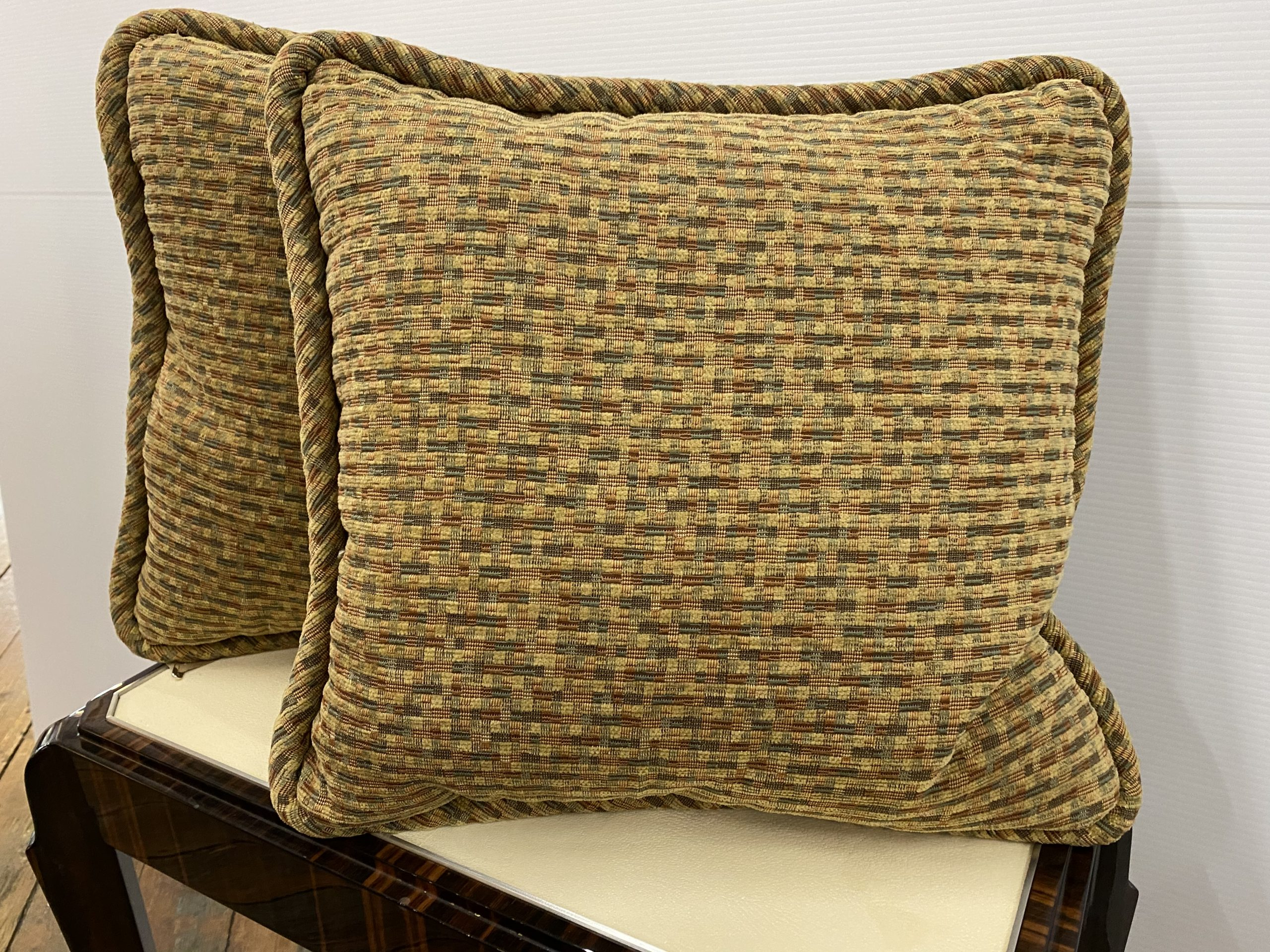 pair of chenille throw pillows bell