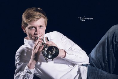 Knoxville TN Senior Pictures, Senior Portraits, Trumpet, Webb School of Knoxville, Senior Guy
