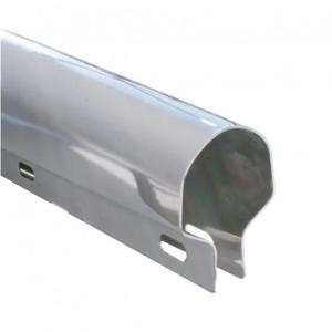 """United Pacific 30"""" Economy Stainless Heavy Duty Mud Flap Hanger - 2"""" Bolt Pattern"""