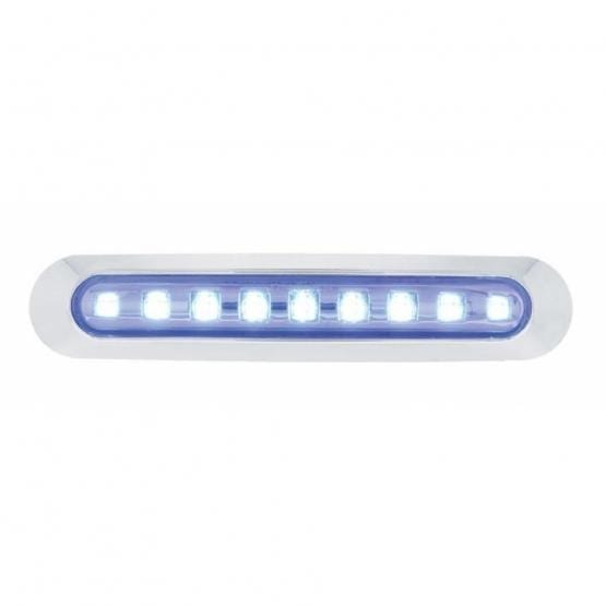 Bells-And-Whistles-Chrome-Shop-Trucks-Aftermarket-Accessories-Lighting-United Pacific-9 LED Clearance Marker Light Bar-Peterbilt-Kenworth-Freightliner-Mack-Volvo-Lonestar