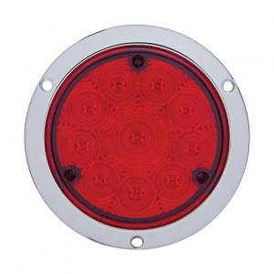 """United Pacific 10"""" LED 4"""" Deep Dish Stop, Turn, & Tail Light- Red LED/Red Lens- Off"""