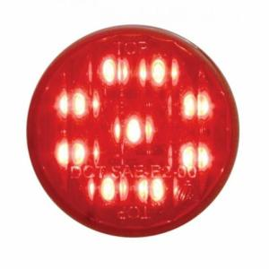 Bells-And-Whistles-Chrome-Shop-Trucks-Aftermarket-Accessories-United Pacific-2 Inch Marker Light Red LED Red Lens-Peterbilt-Kenworth-Freightliner-Mack-Volvo-Lonestar