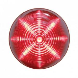 "United Pacific 13 LED 2 1/2"" Beehive Clearance/Marker Light - Red LED/Red Lens On, Top View"