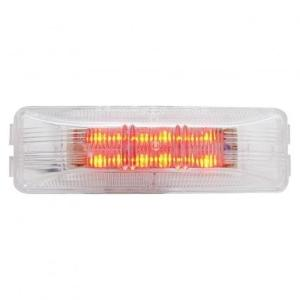 United Pacific 12 LED Rectangular Clearance/Marker Light - Red LED/Clear Lens- On