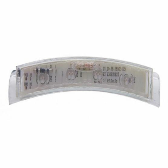 United Pacific 4 LED Headlight Turn Signal Light - Amber LED/Clear Lens
