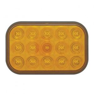 United Pacific 15 LED Rectangular Turn Signal Light - Amber LED/Amber Lens- Off