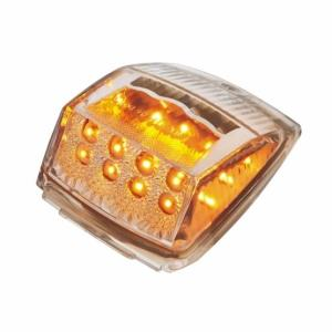 Bells-And-Whistles-Chrome-Shop-Trucks-Aftermarket-Accessories-Lighting-United Pacific-Square Cab Light Amber LED Clear Lens-Peterbilt-Kenworth-Freightliner-Mack-Volvo-Lonestar
