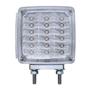 United Pacific 39 LED Reflector Double Face Turn Signal Light (Passenger) - Amber & Red LED/Clear Lens