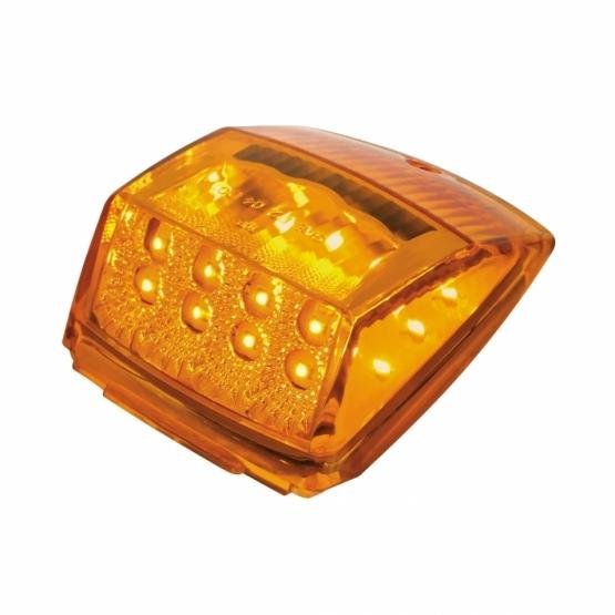 United Pacific Amber Reflector Square Cab Light- Light On Side View