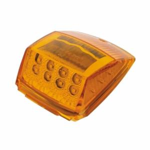 United Pacific Amber Reflector Square Cab Light- Light Off Side View