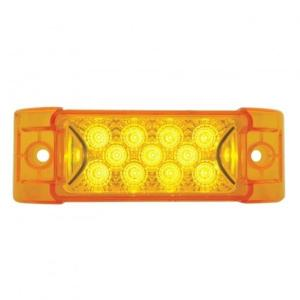 United Pacific 13 LED Reflector Rectangular Clearance/Marker Light - Amber LED/Amber Lens