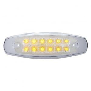 Bells-And-Whistles-Chrome-Shop-Trucks-Aftermarket-Accessories-Lighting-United Pacific-12 LED Reflector Clearance Marker Light-Peterbilt-Kenworth-Freightliner-Mack-Volvo-Lonestar