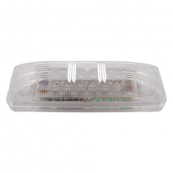 United Pacific 12 LED rectangular Clearance/Marker Light- Amber LED/Clear Lens- Off Side View