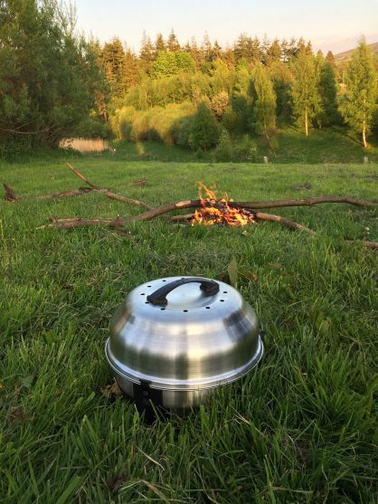 The SAFire Grill – a great way to barbeque when camping