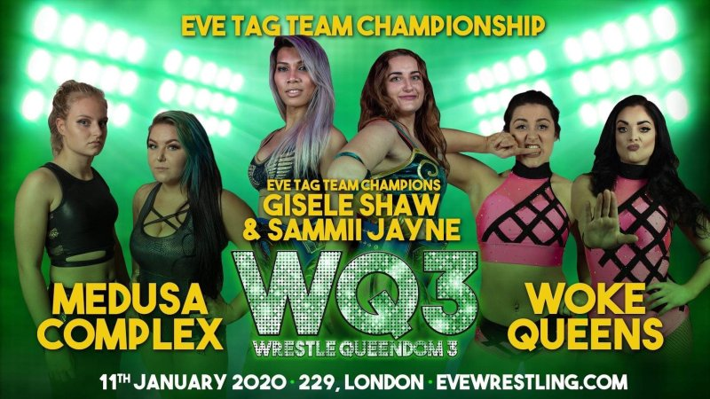 The Medusa Complex wins EVE tag titles at Wrestle Queendom 3