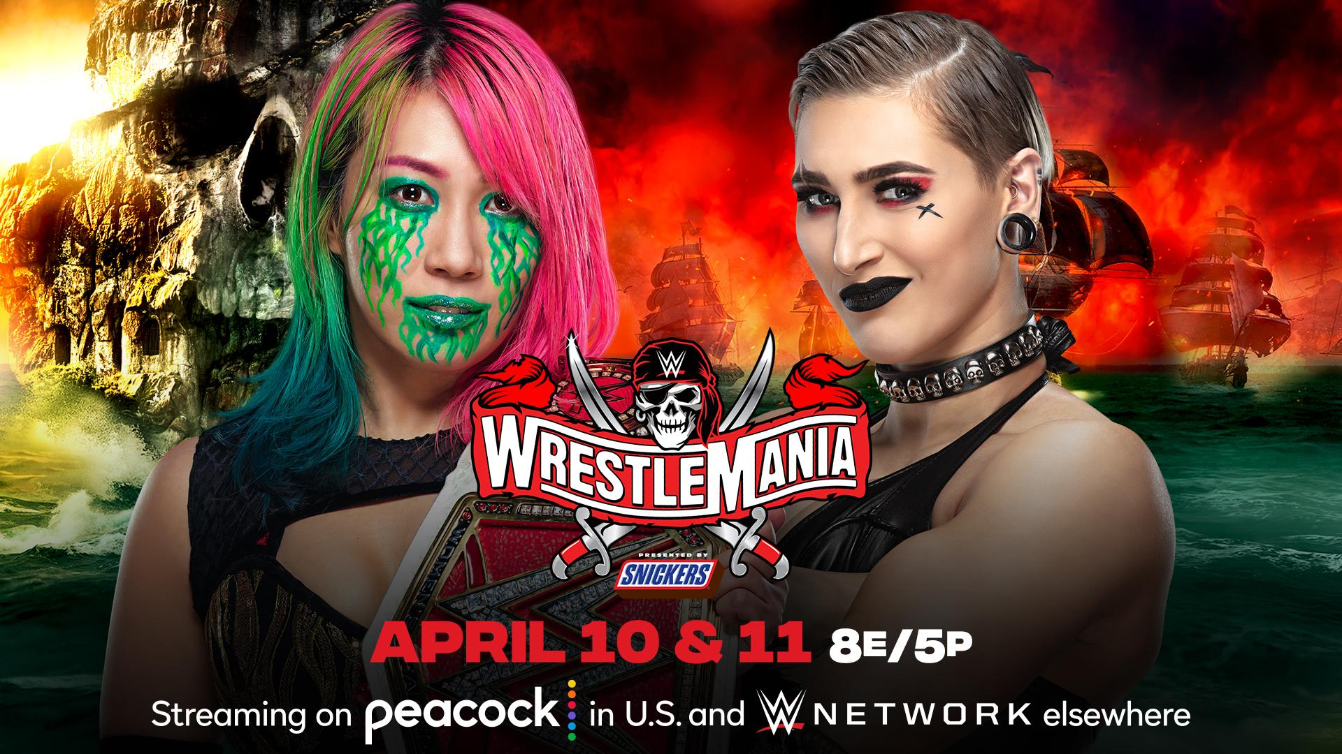 Rhea Ripley vs. Asuka announced for WrestleMania 37