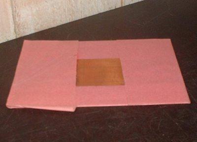 Plaque de cuivre 14 x 10 cm