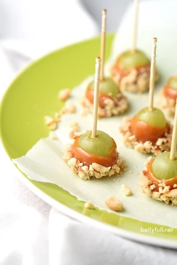 Caramel Apple Grapes - Belly Full