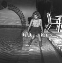 Tanya at pool- King recording sessions, Bahamas 1994