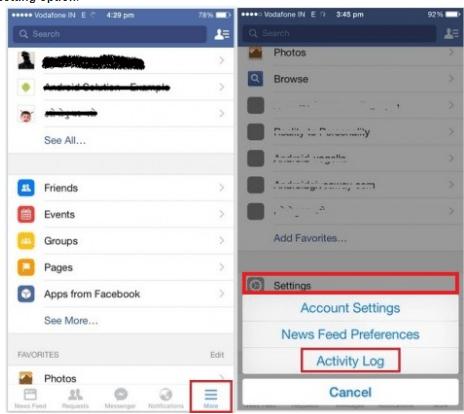 How Do You Erase Your Facebook Activity Log