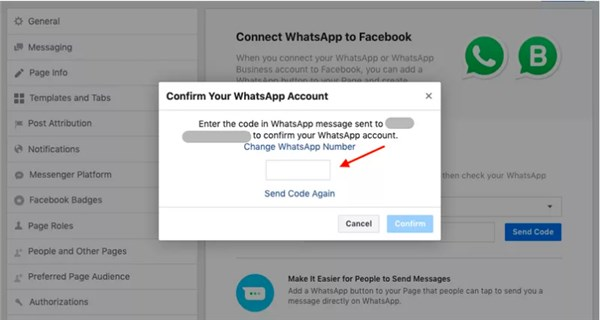 WhatsApp & Facebook Business Page - How To Link WhatsApp Number To Facebook Page